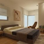 הדמיית פנים הדירה - חדר שינה