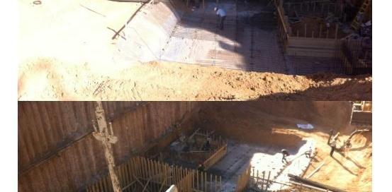 תחילת יציקת מרתף 1 – תמונות מאתר הבניה